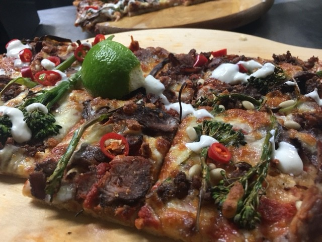 Spiced biltong lamb crust pizza simply better range