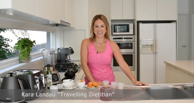 kara landau travelling dietitian healthy recipe video hemp seeds